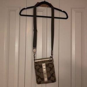 Coach brown crossbody purse